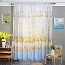 Vorhänge ösen Wohnzimmer Modern Jamicy® 100 X 200cm Neu Mode Auto  Transparent Orientalisch Muster Giraffe