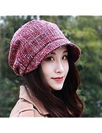 Sombrero De Mujer Sra. Cap Gorra De Sombrero De Pintor De Tapa De Sombrero  De Boina Octogonal Otoño E… 1d9a5fab706
