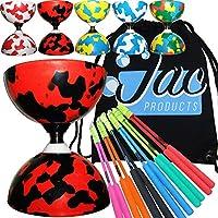 Jester Bearing Diabolo Set, Superglass Diablo Sticks, Diabolo string & Bag
