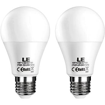 LE 2er E27 dimmbar led Lampe, 9W ersetzt 60W Glühbirne, A60 led ...