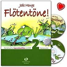 Cualquier cantidad de flauta tonos 2–Escuela para flauta dulce soprano con PFIFF de Barbara Ertl–con 2CDs y Bunter herzförmiger–Partituras vhr3618cd–9783940069870