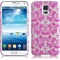 JAMMYLIZARD | Damast- Motiv Back Cover Hülle für Samsung Galaxy S5 / S5 NEO, ROSA