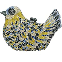 Bonjanvye Glitter Rhinestone Bird Clutch Purses Evening Clutch Bag for Girls