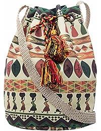 The House of tara Women's Sling Bag (Multi-Colored)