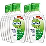 Dettol Original Germ Protection Alcohol based Hand Sanitizer, 50ml, Pack of 10