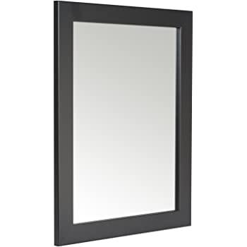 48 X 58cm Black Framed Mirror With Wall Hanging Fixings Amazonco