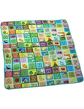maboshi alfombra de doble cara juegos alta calidad marca bebé 200cm x 180cm x 0,5cm impermeable al agua