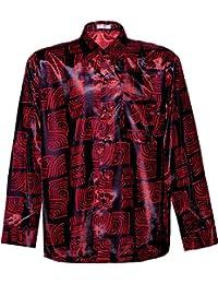 Thai silk shirts men clothing for Mens silk shirts amazon