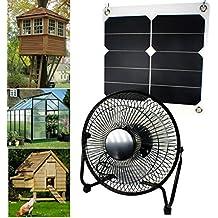 10W 5V Panel Solar Powered ventilador para Camping caravana barco perro de efecto invernadero casa pollo casa ventilador
