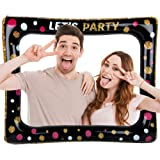 FLOFIA Marco Inflable Photocall Marco Selfie Photo Booth Frame Let'S Party para Fiesta Cumpleaños Boda Comunión Baby Shower N