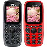 GLX W22 Pack Of 2 Dual Sim Basic Feature Mobile Phone (Grey+Red)