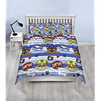 Paw Patrol Peek Boys Double Duvet Cover | Reversible Two Sided Design | Kids Bedding Set Includes Matching Pillow Cases
