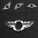 9 MOON® Car Metal Grey UK Flag Door Lock decoration ring fit BMW Mini Cooper