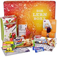 Lern Boxx (13 Teile) Geschenk für Schüler - Lernbox zur Lernmotivation mit vielen Lernhilfen, gesunden Snacks, Neuronade & Co.