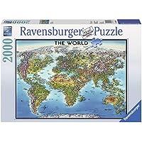 Ravensburger 16683 - World Map, Puzzle 2000 Pezzi
