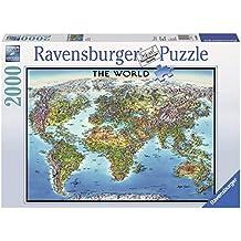 Ravensburger - Mapa del mundo, puzzle de 2000 piezas (16683 1)