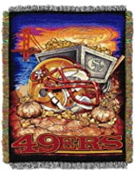 NFL San Francisco 49ers Acrylic Tapestry Throw Blanket