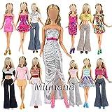 Miunana 10 Vêtements Pour Barbie de Livraison Aléatoire