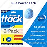 Azul Potencia Tack – Limpio, seguro y fácil de usar – reutilizable, color azul Blue Power Tack 150gm Pack of 2