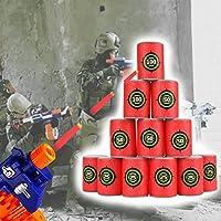 Queta Bullet Darts Target - Juego de 6 bolsitas de Dardos para Nerf N-Strike Elite Series