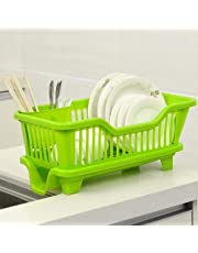 Chefstar 3 in 1 Large Sink Set Dish Rack Drainer with Tray for Kitchen, Dish Rack Organizers