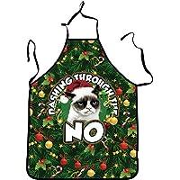 SaiDeng Grembiule Da Cucina Babbo Natale Con Il Modello Vestito Di Natale Grembiule