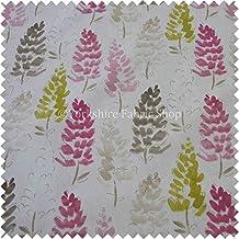 Lupin Flor Planos Patrón Marrón Verde Rosa Sorbete Color Estampado Tela De Algodón Cortinas Tela Para Tapizar - Británico Diseño 551