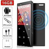 【Edición Mejorada Altavoz Incorporado】 Reproductor MP3 de 16GB, Bluetooth 4.2 Reproductor con Radio FM/Imagen/E-Book, Soporte