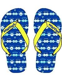 Größen 28-35 Badeschuhe Minions Kinder Badesandalen Zehentrenner Blau