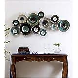 Vedas Exports Multicolour Iron Zara 3D Arts Sculpture Wall Decor Hanging Home Room Decor (Size 54 x 23 inches)
