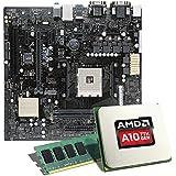 AMD A12-9800 / ASUS A320M-C / 8GB Mainboard Bundle | CSL PC Aufrüstkit | AMD A12-9800 APU 4x 3800 MHz, 8GB RAM, Radeon R7, GigLAN, 7.1 Sound | Aufrüstset | PC Tuning Kit