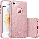 Coque iPhone SE, ESR Bling Bling Gliter Sparkle Coque iPhone 5 / 5S / SE Paillette [ Ultra Mince ...