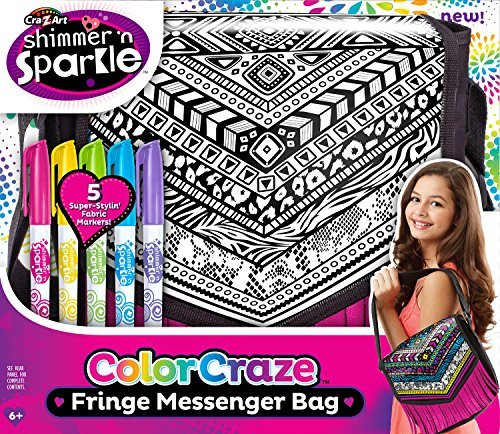 Cra Z Art Funky Color Craze Fringe Messenger Bag by Unknown Funky Fringe