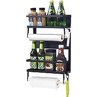 XIAPIA Etagère Réfrigérateur-Supports pour Papier Essuie-Tout Distributeur Pimenter Etagere magnetique frigo avec Porte…