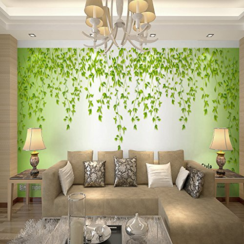 Lzhenjiang Wandbilder Seidentuch 3D-Vine Blume Rattan Schlafsofa Im Wohnzimmer Tv Wallpaper Hintergrundbild