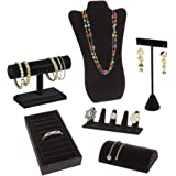 SSWBasics Jewelry Display Bundle - Black Velvet - 6 Displays Included