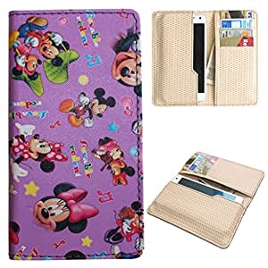 DooDa PU Leather Quality Wallet Case Cover With Card Slots Pouch For Spice Stellar Glamour (MI-436)