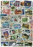 Briefmarkensammlung Polynesie, abgestempelte Marken, verschiedene Motive, 50 Stück