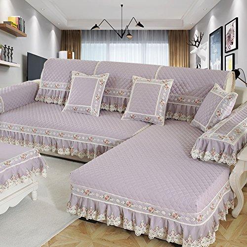 M&XGF Schnittsofa werfen Abdeckung pad Baumwolle und leinen Sofa möbel Protector für Haustiere Kinder Anti-rutsch Slipcovers -1 stück-H 80x210cm(31x83inch)