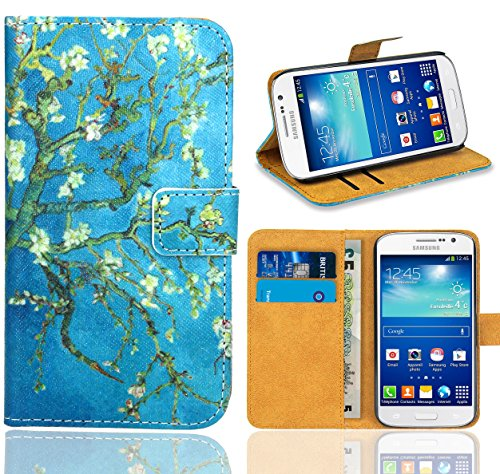 Samsung Galaxy Grand Neo / Grand Neo Plus Handy Tasche, FoneExpert Wallet Case Flip Cover Hüllen Etui Ledertasche Lederhülle Premium Schutzhülle für Samsung Galaxy Grand Neo / Grand Neo Plus (Pattern 8)