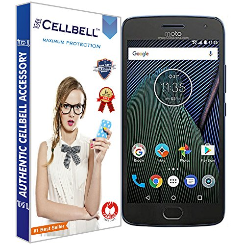 CELLBELL® Tempered Glass Screen Protector For Motorola Moto G5 Plus...