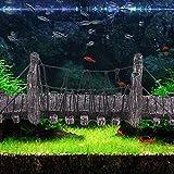Hjuns® Pont Suspendu en Résine Ornement pour Aquarium Réservoir de Poissons