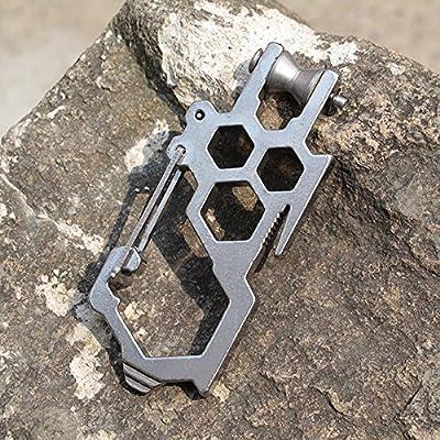 Bazaar Multi-Funktionen EDC Buckle Werkzeug D-förmigen Stahl Karabinerhaken Outdoor-Survival Kit