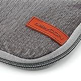 deleyCON Notebook-Tasche Macbook Laptop bis 17″ (43,2cm) Schutztasche aus robustem Nylon 2 Zubehörfächer verstärkte Polsterwände – Grau/Braun - 6
