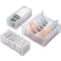 JoyPlus Organisateur de Tiroir Diviseurs de Tiroir de sous-vêtements Lavable Pliables,Lot de 3 Boîte de Rangement pour…