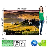 FORWALL DekoShop Vlies Fototapete Tapete Vliestapete Toskana AD169VEXL (208cm x 146cm) Photo Wallpaper Mural