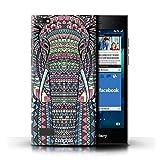 Stuff4® Hülle/Hülle für BlackBerry Leap/Elefant-Farbe Muster/Aztec Tier Muster Kollektion