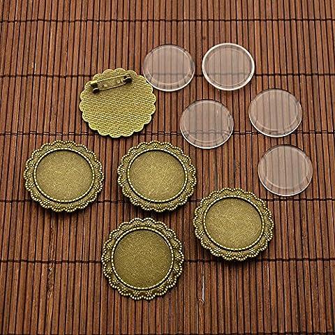 PandaHall 25 mm transparente brosche Cabochon Luenette