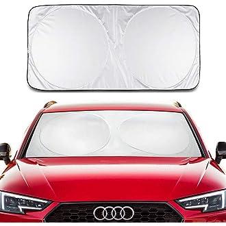 Lihaky Cartoon Snoopys Windshield Sun Shades Blocks Uv Rays Sun Foldable Visor Car Universal Car Sunshades Shield Cover Protector