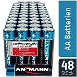 ANSMANN Batterien AA 48 Stück - Alkaline Mignon Batterie ideal für Lichterkette, LED Taschenlampe, Xbox One Controller, Spielzeug, Fernbedienung, Radio, Nachtlicht - umweltschonende Verpackung